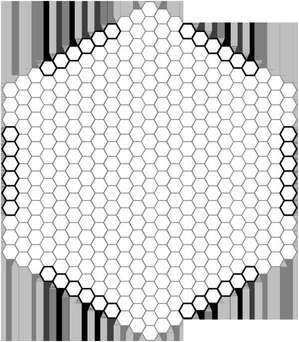 Игра поле из шестиугольников
